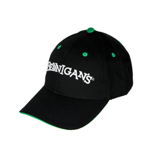 Black Green Cap Left Angle